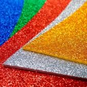 Plancha Goma Eva Super Glitter 42x56cm X 10 COLORES SURTIDOS