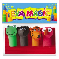 Titeres de Dedo Goma Eva/ Pack x 4 unidades